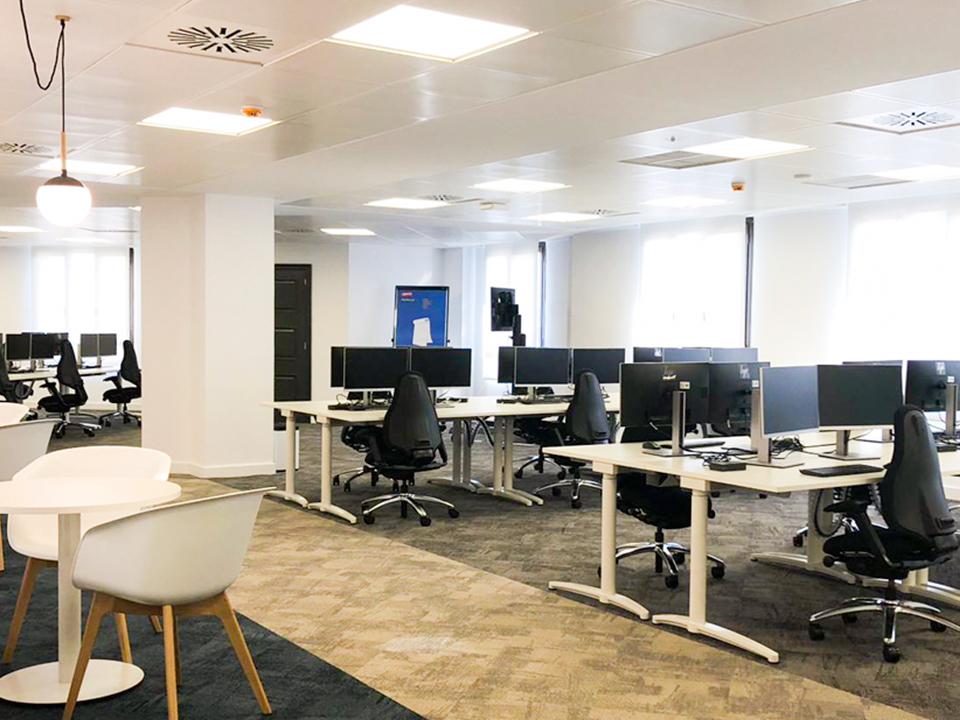 Mobiliario de oficina y espacio de trabajo