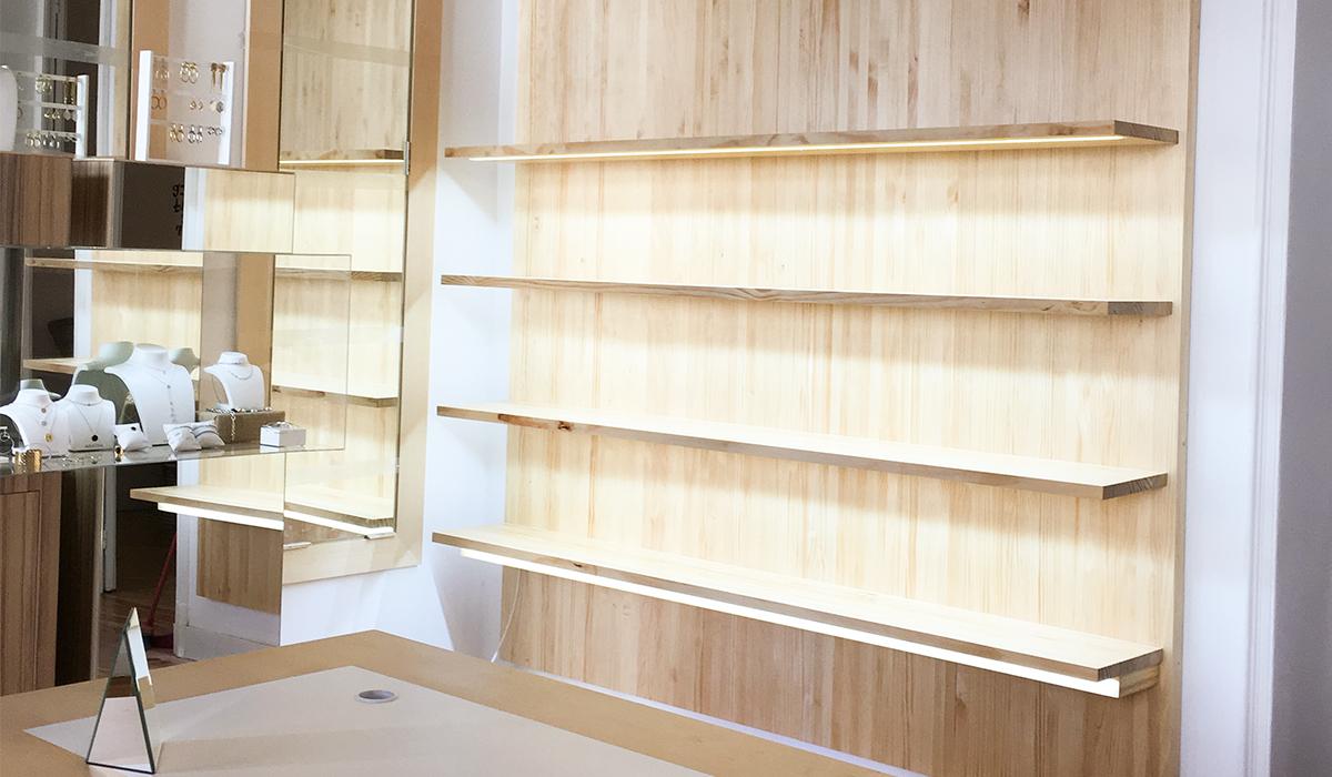 Mobiliario para comercios - Joyería Agatha