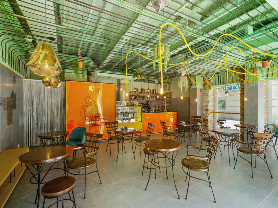 Mobiliario para comercios y cafetería